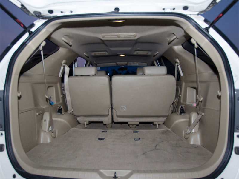 Toyota Fortuner Taxi Luggage Space