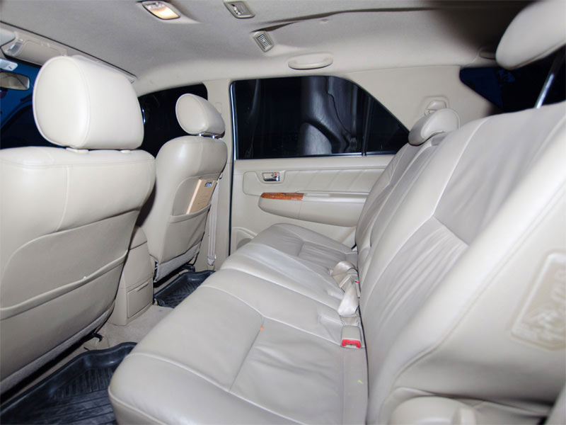 Toyota Fortuner Taxi Interior Rear