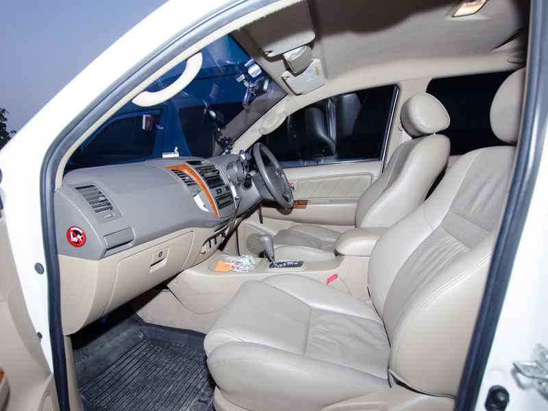 Toyota Fortuner Taxi Interior Front