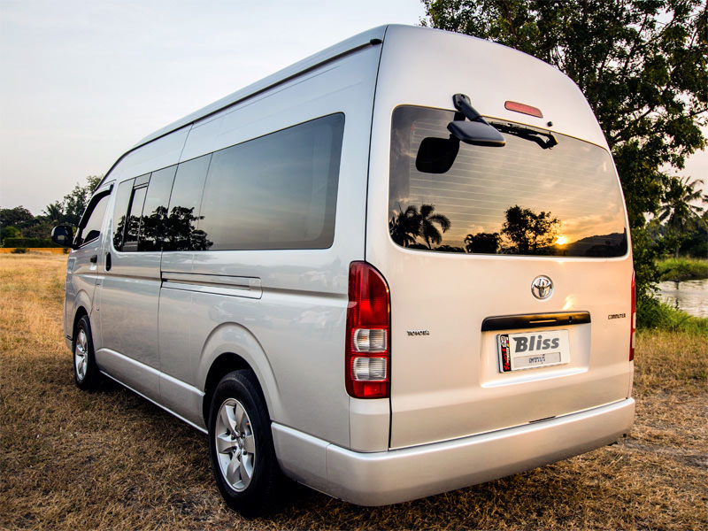 Toyota Hiace Taxi Rear View